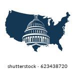 united states capitol building... | Shutterstock .eps vector #623438720