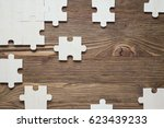 Brown Wooden Background With...