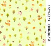 cute baby seamless pattern...   Shutterstock . vector #623441039
