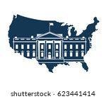white house building in... | Shutterstock .eps vector #623441414