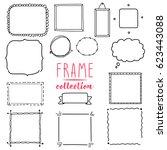 Vector Frame Set. Wreath...
