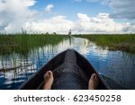 mokoro canoe trip in the... | Shutterstock . vector #623450258