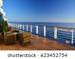 open deck on cruise ship at the ... | Shutterstock . vector #623452754