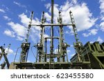 military piling machine for... | Shutterstock . vector #623455580
