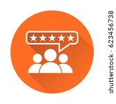 customer reviews  rating  user...   Shutterstock .eps vector #623456738