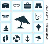 season icons set. collection of ... | Shutterstock .eps vector #623456954