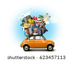 vacation and travel  a huge... | Shutterstock . vector #623457113