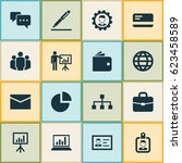 trade icons set. collection of...   Shutterstock .eps vector #623458589