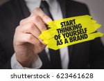 start thinking of yourself as a ... | Shutterstock . vector #623461628