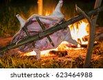 Small photo of hog roast on a Roasting-jack
