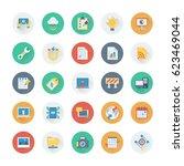 digital marketing colored... | Shutterstock .eps vector #623469044