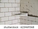 tub surround for a tall shower... | Shutterstock . vector #623469368