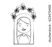 monochrome sketch contour of... | Shutterstock .eps vector #623470400