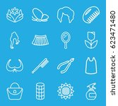 beauty icons set. set of 16... | Shutterstock .eps vector #623471480