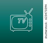tv icon vector illustration in...