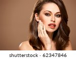 portrait of beautiful woman... | Shutterstock . vector #62347846