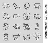 mammal icons set. set of 16... | Shutterstock .eps vector #623480828