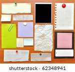 Bulletin Board With Paper Note...