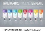 bright and colorful timeline... | Shutterstock .eps vector #623492120