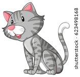 gray cat sitting alone... | Shutterstock .eps vector #623498168