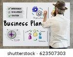 business plan entrepreneur...   Shutterstock . vector #623507303