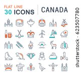 set line icons in flat design... | Shutterstock . vector #623507780