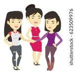asian business women putting...   Shutterstock .eps vector #623509976