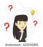 asian businesswoman having... | Shutterstock .eps vector #623510204