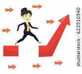 asian business woman coping... | Shutterstock .eps vector #623510540