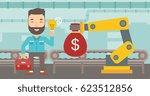 young caucasian business man... | Shutterstock .eps vector #623512856