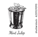 cocktail mint julep for the... | Shutterstock . vector #623519393