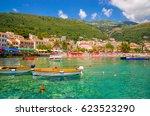 beautiful mediterranean... | Shutterstock . vector #623523290