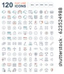 set line icons in flat design...