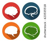 brain icon | Shutterstock .eps vector #623535518