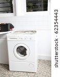 closeup of washing machine in... | Shutterstock . vector #62354443