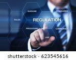 regulation compliance rules law ... | Shutterstock . vector #623545616