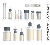 realistic empty pharmaceutical... | Shutterstock .eps vector #623558600