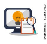 monitor computer icon | Shutterstock .eps vector #623558960