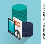 smartphone device icon | Shutterstock .eps vector #623559470