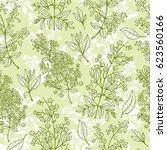 medicinal plants vector... | Shutterstock .eps vector #623560166