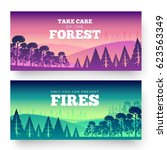 protection of forests against... | Shutterstock .eps vector #623563349