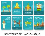 set of thailand country... | Shutterstock .eps vector #623565536