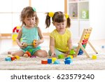 children playing together with... | Shutterstock . vector #623579240