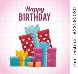 gift box present birthday card   Shutterstock .eps vector #623585030
