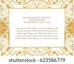 abstract art invitation card  | Shutterstock . vector #623586779