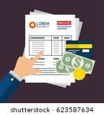 invoice pay concept isolated... | Shutterstock .eps vector #623587634