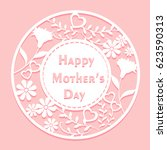 cute cartoon happy mother day... | Shutterstock .eps vector #623590313