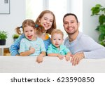happy family mother  father ... | Shutterstock . vector #623590850