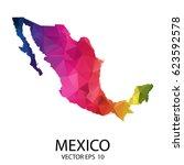 abstract polygon map   vector...   Shutterstock .eps vector #623592578