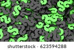 black and green dollar signs... | Shutterstock . vector #623594288
